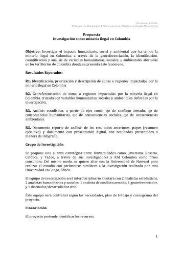Investigación Conjunta Mineria Ilegal - Instituto de Estudios ...