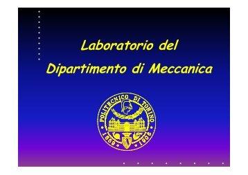 Laboratorio Meccanica - Servizi per la didattica