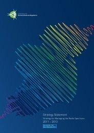 Strategy for Managing the Radio Spectrum: 2011-2013 - ComReg