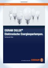 Technische Fibel: OSRAM DULUX elektronische Energiesparlampen