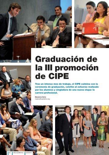 Graduación de la III promoción de CIPE - Instituto Internacional San ...