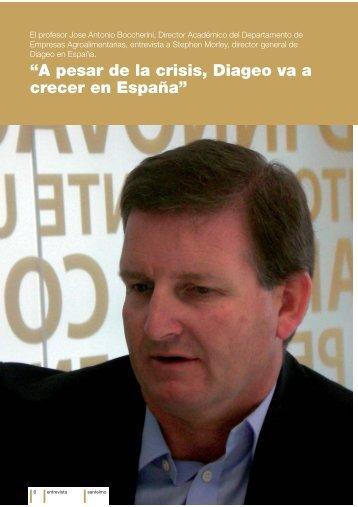"""A pesar de la crisis, Diageo va a crecer en España"" - Instituto ..."