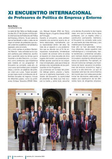 XI ENCUENTRO INTERNACIONAL - Instituto Internacional San Telmo