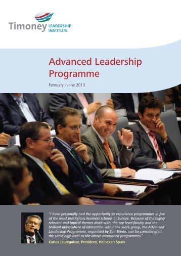 Advanced Leadership Programme