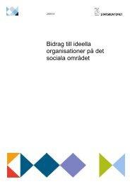 Bidrag till ideella organisationer på det sociala området - Statskontoret