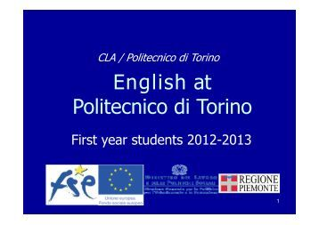 English at Politecnico di Torino
