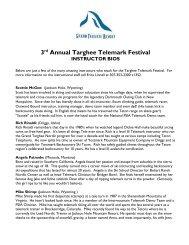 3rd Annual Targhee Telemark Festival - Grand Targhee Resort