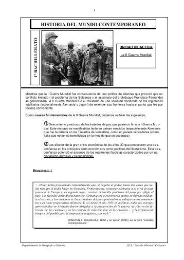 HISTORIA DEL MUNDO CONTEMPORANEO - IES Mar de Alborán