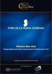 Shlomo Ben Ami - Nueva Economía Fórum