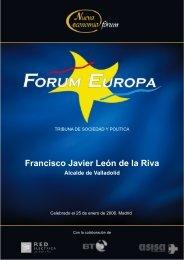 Francisco Javier León de la Riva - Nueva Economía Fórum
