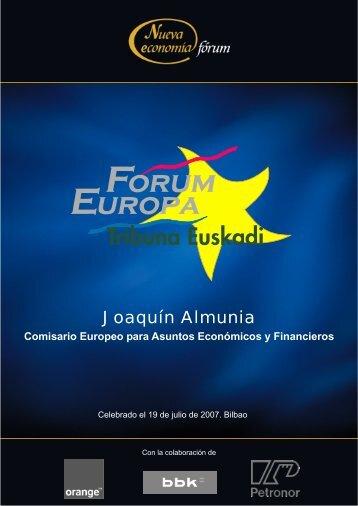 Joaquín Almunia - Nueva Economía Fórum