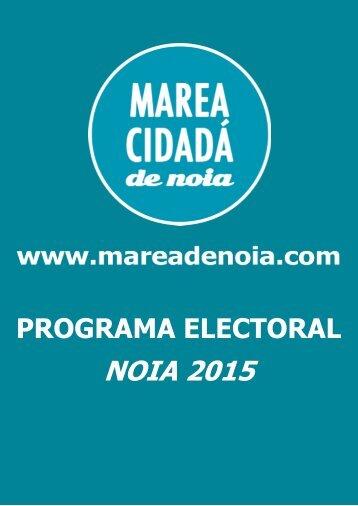 PROGRAMA ELECTORAL NOIA 2015
