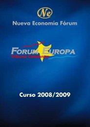 Curso 2008/2009 - Nueva Economía Fórum
