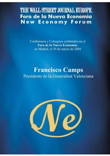 Francisco Camps - Nueva Economía Fórum