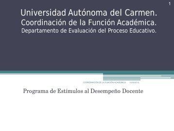 Integrar mi expediente - Universidad Autónoma del Carmen