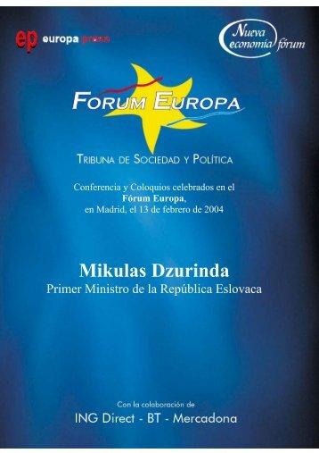 Mikulas Dzurinda - Nueva Economía Fórum