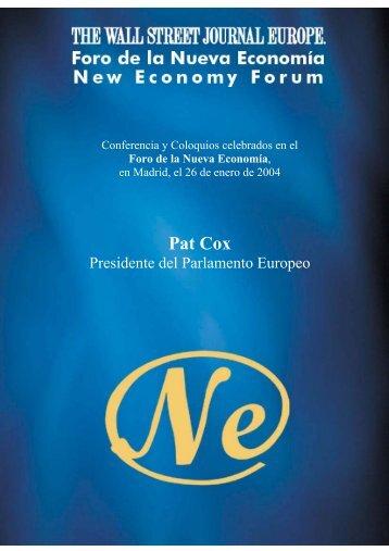 Pat Cox - Nueva Economía Fórum