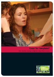 RS11 - Cause For Complaint? - Charity Commission