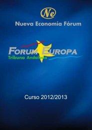 Curso 2012/2013 - Nueva Economía Fórum