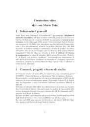 Curriculum vitae dott.ssa Maria Tota 1 Informazioni generali 2 ... - DMI