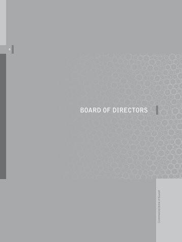 BOARD OF DIRECTORS - Commercial Bank of Kuwait