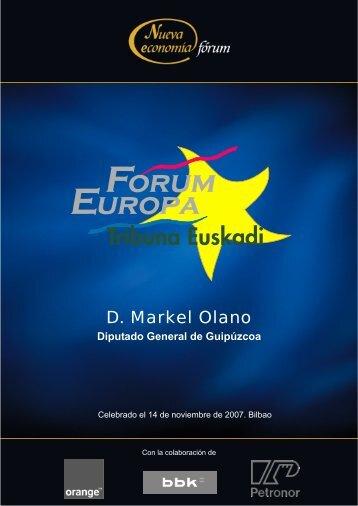D. Markel Olano - Nueva Economía Fórum