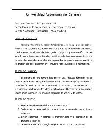 Características del Programa Educativo - Universidad Autónoma del ...