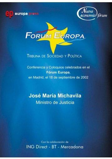 José María Michavila - Nueva Economía Fórum