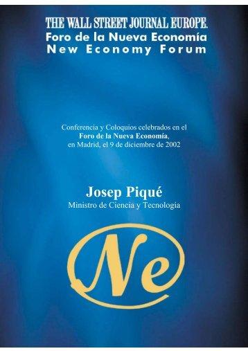 Josep Piqué - Nueva Economía Fórum