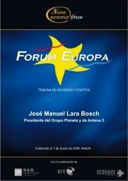 060301-03-José Manuel Lara Bosch _01-03-06 - Nueva Economía Fórum