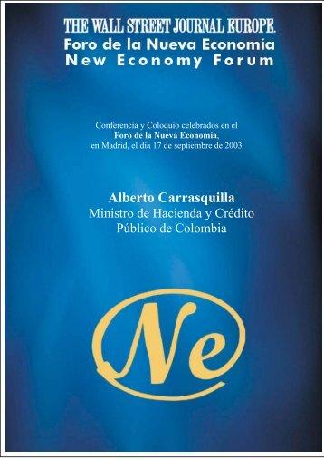 Alberto Carrasquilla - Nueva Economía Fórum