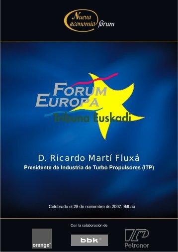 D. Ricardo Martí Fluxá - Nueva Economía Fórum