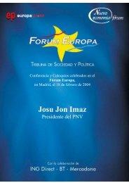 Josu Jon Imaz - Nueva Economía Fórum