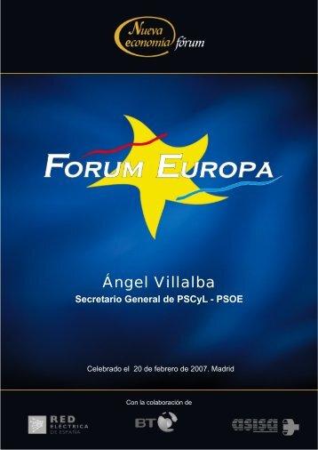 Ángel Villalba - Nueva Economía Fórum