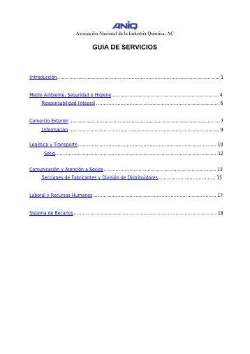 Guía Básica de Servicios - Asociación Nacional de la Industria ...