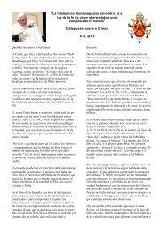 Fe e inteligencia (6 de febrero de 2013)