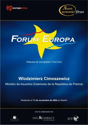 Wlodzimierz Cimoszewicz - Nueva Economía Fórum