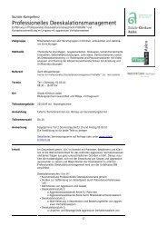 Professionelles Deeskalationsmanagement - Ostalb-Klinikum