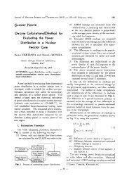 .SHORT NOTE On-Line Calculational Method for Evaluating the ...