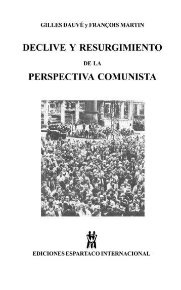 perspectiva comunista - Edicionesespartaco.com