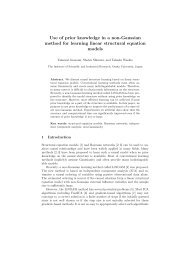 Use of prior knowledge in a non-Gaussian ... - Osaka University