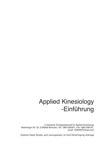 applied kinesiology Applied kinesiology (ak) uses the manual muscle testing response as a window on nervous system function.