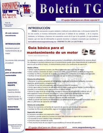 Boletín TG Vol. 12 - Suspensiones TG del Sureste