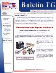 Mantenimiento del Equipo Hidráulico El equipo ideal para un cliente ...