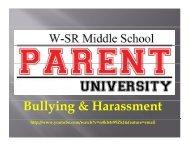 Bullying & Harassment - Waverly-Shell Rock Community Schools