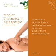 master of science in osteopathie - FHG