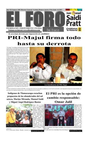 PRI-Majul firma todo hasta su derrota - El Foro de Taxco