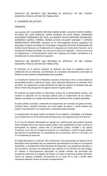 el archivo en pdf - Congreso del Estado de Tamaulipas