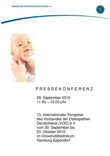 Pressemappe zur Pressekonferenz - Verband der Osteopathen ...
