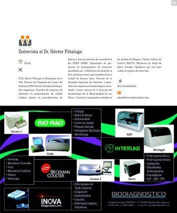 Entrevista al Dr. Héctor Pittaluga - Revista Bioanalisis